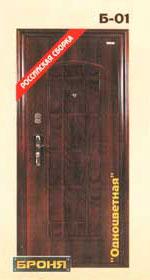 стальная дверь броня: модель-Одноцветная