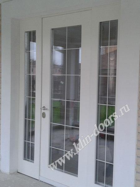 двери входная со стеклопакетом